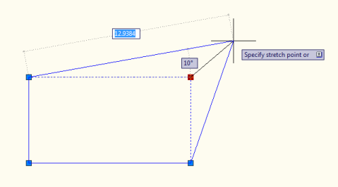 Stretching a rectangle in AutoCAD