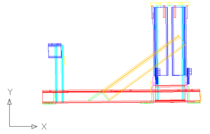 AutoCAD plan view for the new UCS
