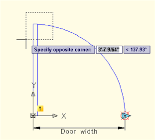 Specify door corners