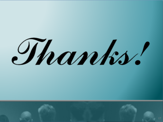 Do you say thank you at the end of a presentation?