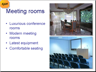 slide for the meeting rooms
