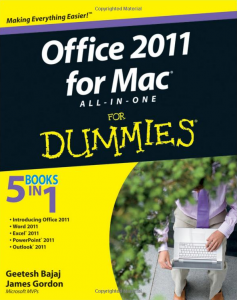 Book review office 2011 for mac all in one for dummies for For dummies template book cover