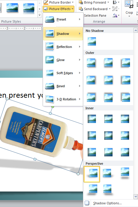 PowerPoint tips: combine images