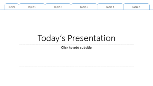 create a tabbed presentation for longer presentations lots of powerpoint tips tabbed presentation topics 1