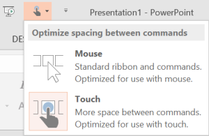 Using PowerPoint with a touch screen — on a tablet