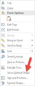 how to change shape outline default in powerpoint