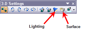 the 3-D Settings toolbar