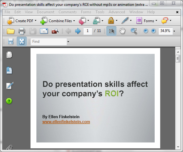 From PowerPoint to PDF