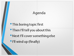 power point agenda slide