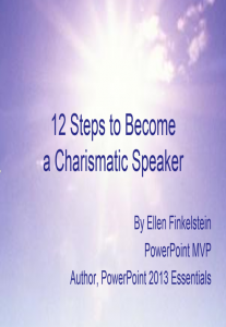 cover-12 steps to become a charismatic speaker