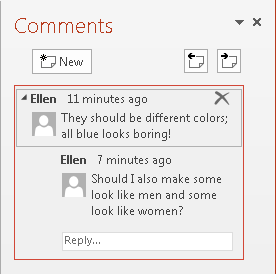 Collaborate on a PowerPoint file by inserting comments
