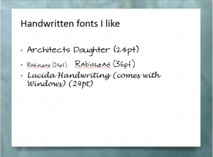 Embedding fonts in a presentation with non-standard fonts