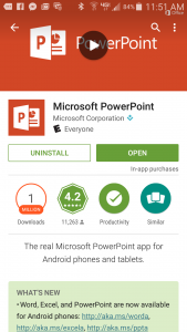 PowerPoint on an Android phone