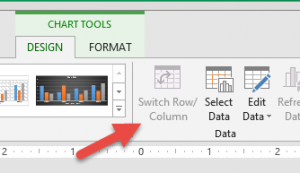 Switch rows and columns in a chart