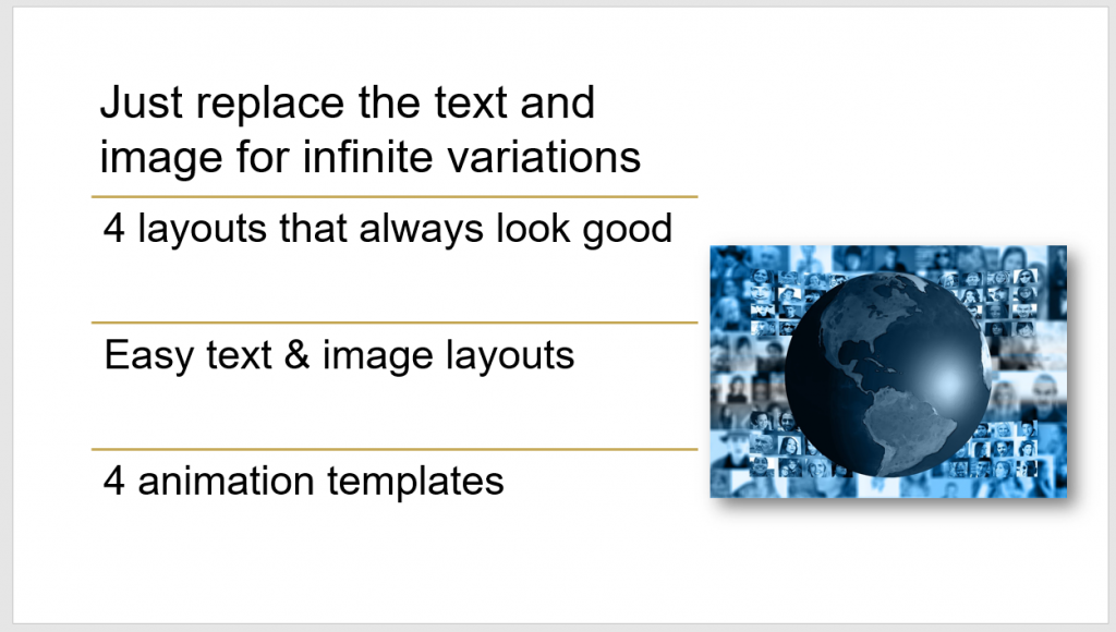 Using A Slide Layout Template For Infinite Variations