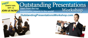 The 8th annual Outstanding Presentations Workshop is free this year